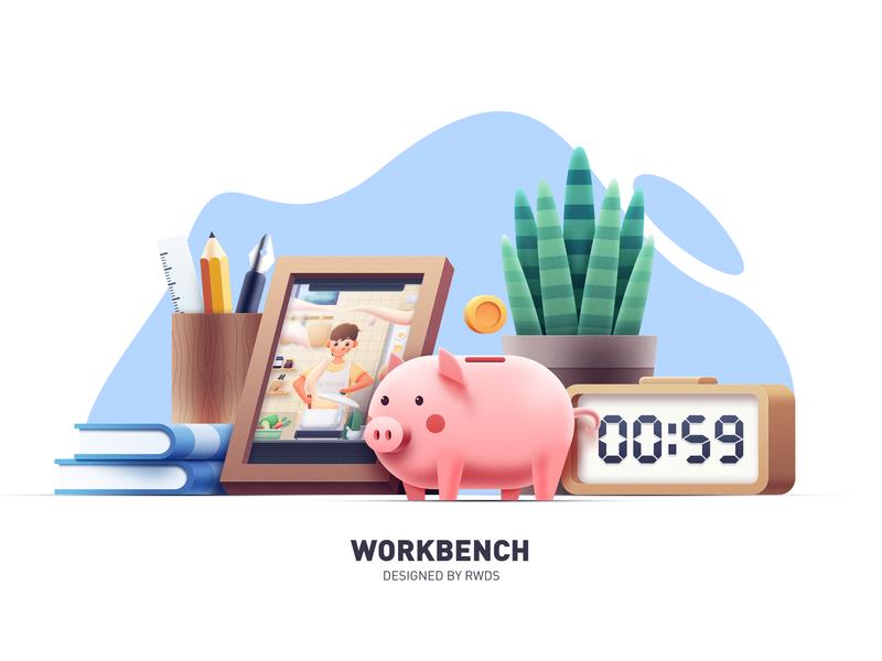 Study pig design icon illustration ps