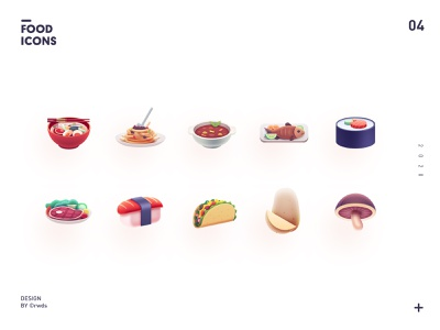 food icons4 design vector branding ui illustration ps