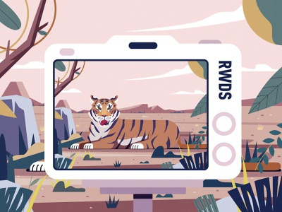 Tiger vector branding illustration ps