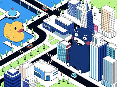 City vector illustration ps city