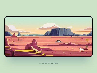 Desert vector illustration ps