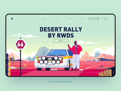 Desert web vector illustration ps