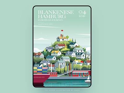 Hamburg vector illustration ps