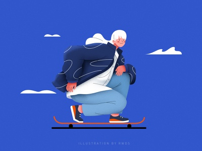 Skate person vector illustration ps