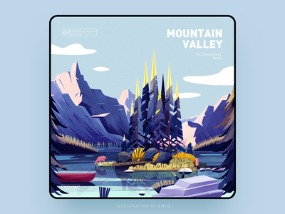 Mountain vector illustration ps