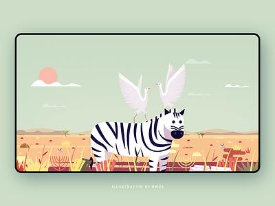 Zebra vector illustration ps