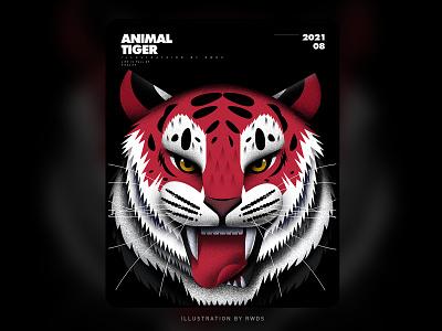 Tiger animal tiger vector illustration ps