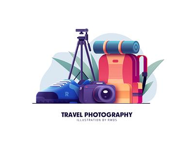 Travel rwds vector illustration ps