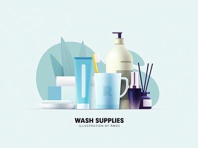 Wash vector illustration ps