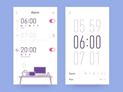 app-radio clock icon time of on alarm clock music cat ps ui radio app