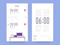 app-radio clock