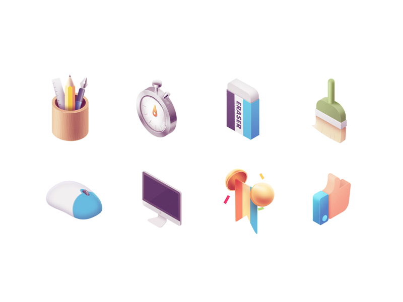 Icons isometric