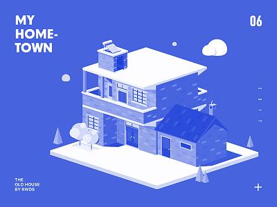 Hometown house isometric hometown