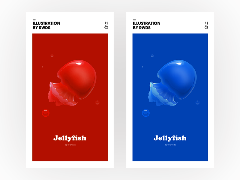 Jellyfish sea illustration jellyfish