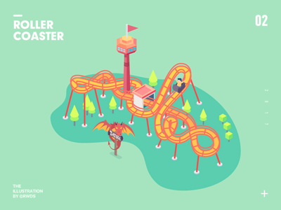 Roller coaster isometric