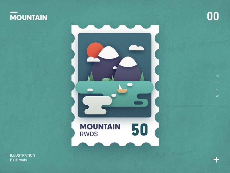 Mountain card paper mountain
