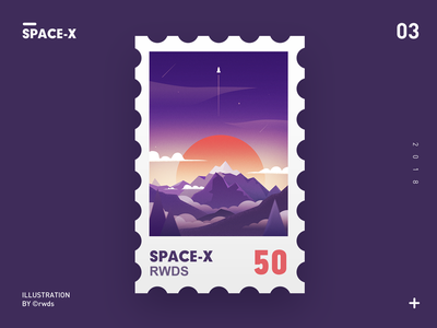SpaceX illustration mountain rocket spacex