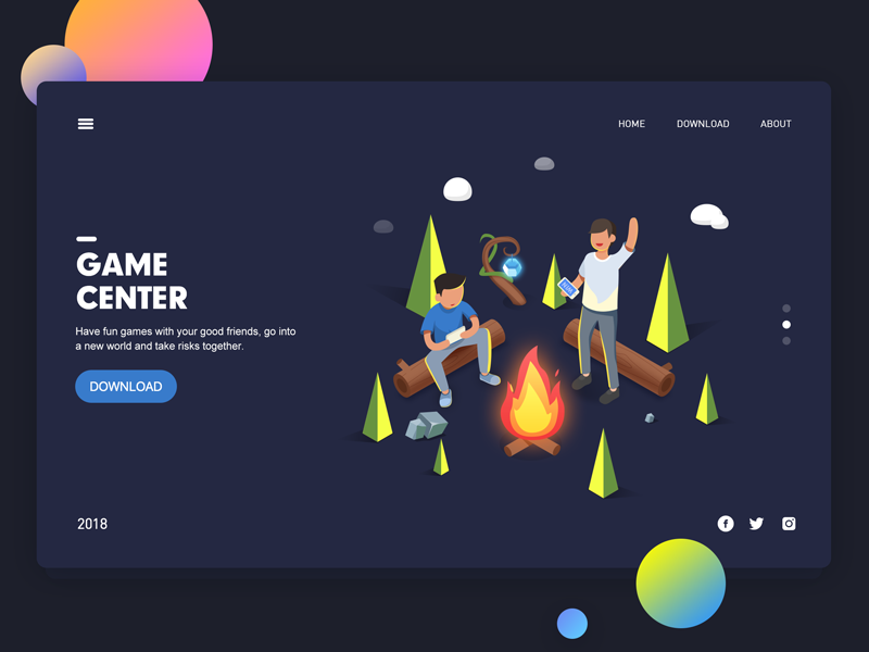 Game isometric ps illustration web game