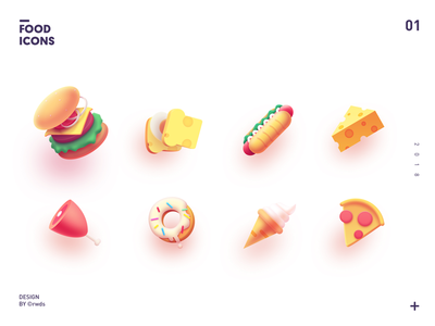 Food Icons icon china pizza meat hotdog ice-cream bread hamburg icons food
