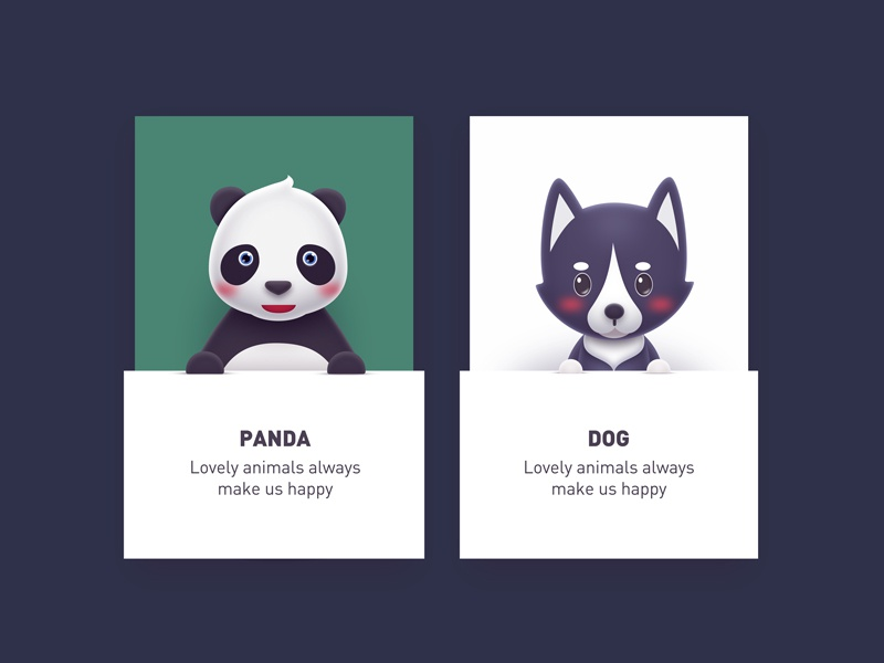 Sweet animals 07 cute panda dog animal