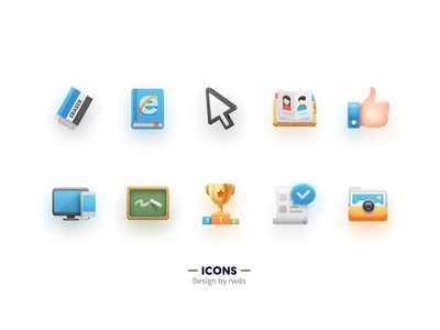 Icons2 book like medal phone computer erase icons
