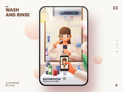 Brush wash brush teeth ps illustration