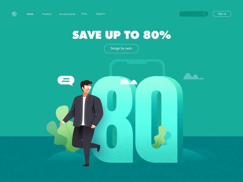 Web Design ui illustration ps