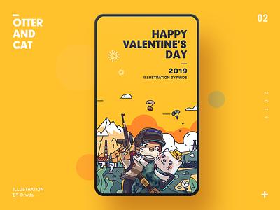 Happy Valentine's Day valentines day illustration ps