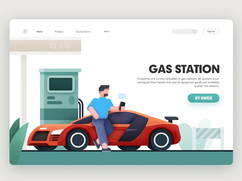 Gas station r8 audi illustration gas