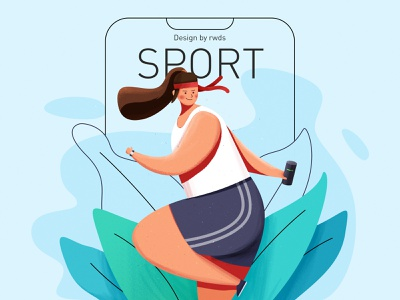 Sport design sport person illustration ps