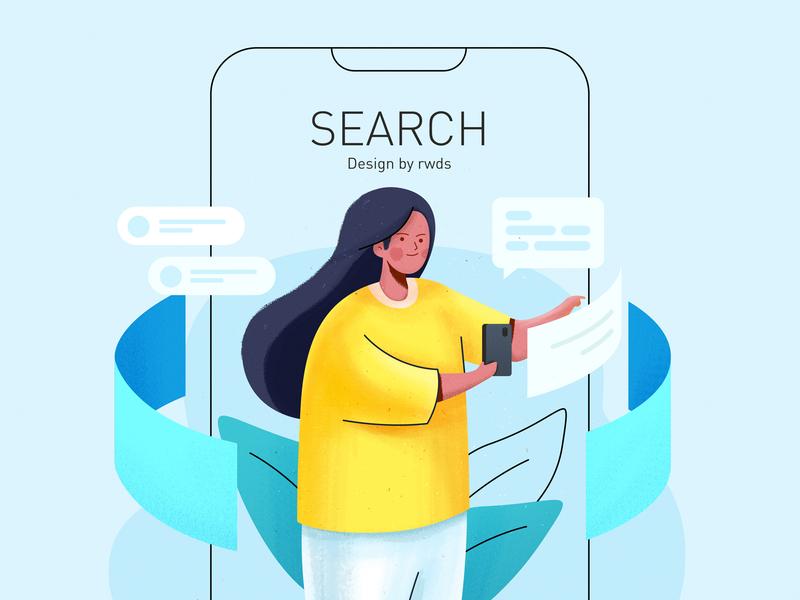 Search person ps illustration web
