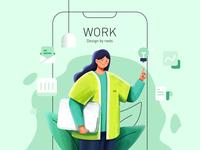 Work2 branding design icon ui illustration ps