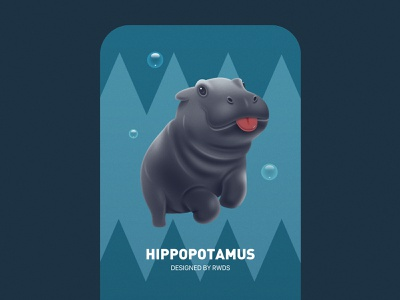 Hippo 2 ip illustration ps hippopotamus