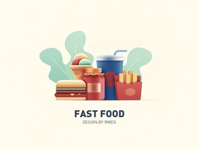 Fast food rwds branding illustration icon design eat icecream hamburg fastfood