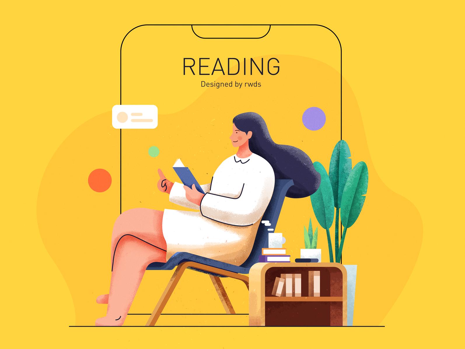 Reading ps illustration read