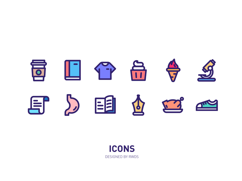 Icons shoe fire book icon