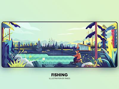 Fishing vector illustration ps fishing