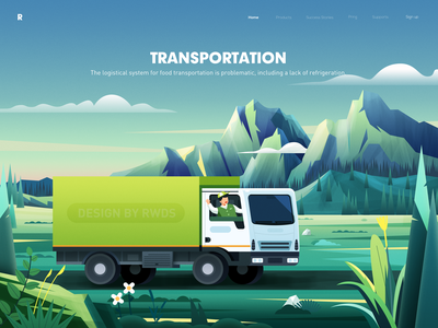 Transportation web design illustration ps transportation