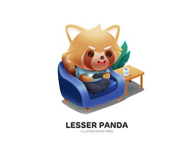 Lesser panda brand illustration ps lesser panda