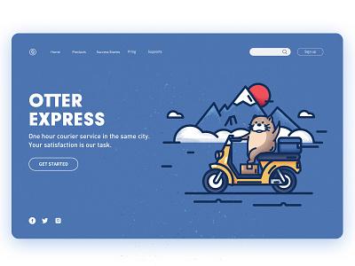 Otter vector design web illustration ps