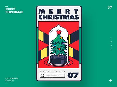 Merry Christmas vector design illustration ps