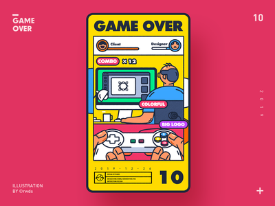 Game over design vector illustration ps