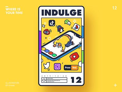 Indulge vector design illustration ps