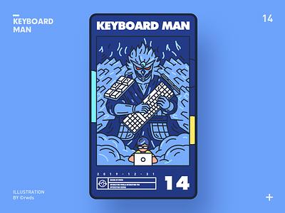 Keyboard Man design vector illustration ps