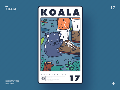 Koala illustration ps