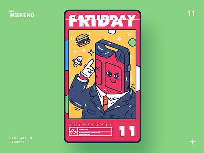 Weekend design illustration ps