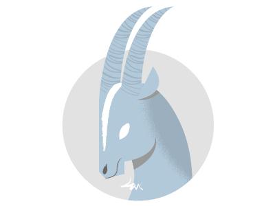 Zodiac Capricorn illustration zodiac capricorn goat blue