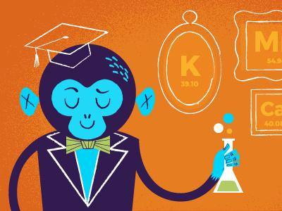 Monkey Scientist chemistry scientist monkey illustration