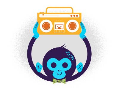 Say Anything Monkey illustration monkey boom-box