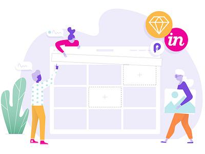 Team Product Illustration teamwork spot illustration design ops product design vector design illustration